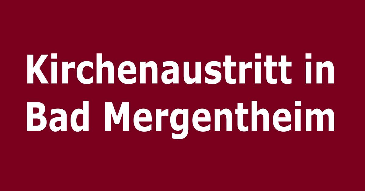 Kirchenaustritt in Bad Mergentheim | Kirchenaustritt.de