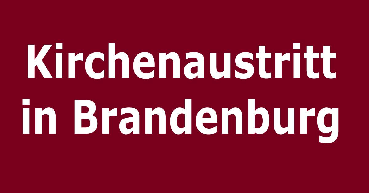kirchenaustritt  brandenburg