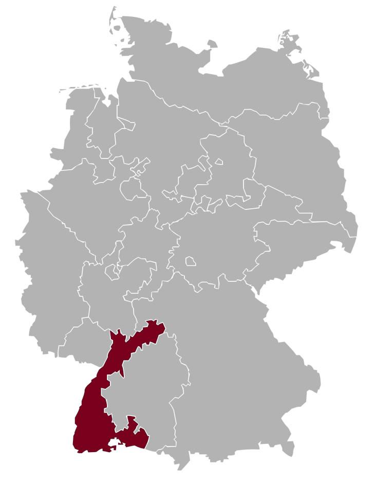 Gebiet der Evangelischen Landeskirche in Baden