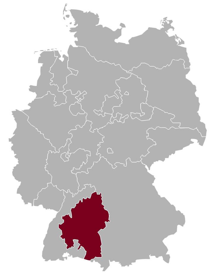 Gebiet der Evangelischen Landeskirche in Württemberg