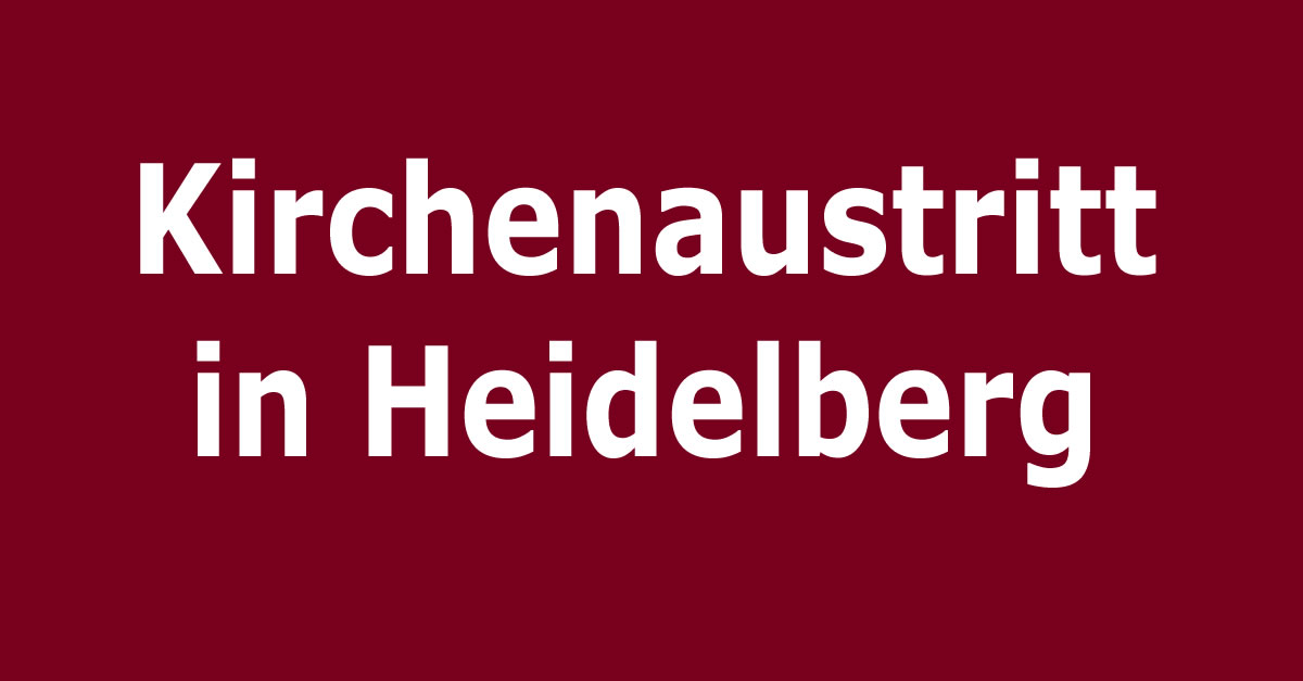 kirchenaustritt  heidelberg kirchenaustrittde