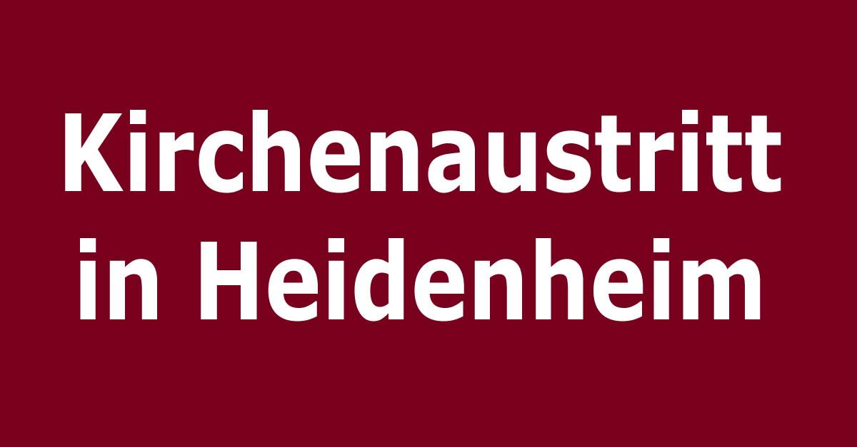 kirchenaustritt in heidenheim an der brenz. Black Bedroom Furniture Sets. Home Design Ideas