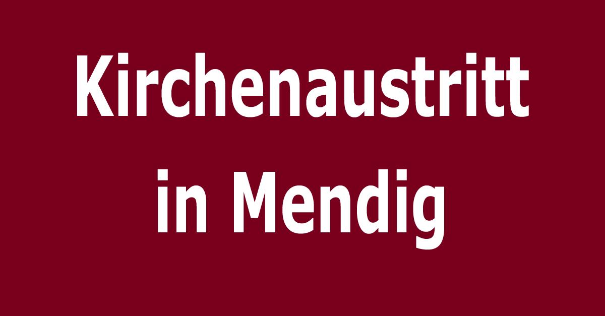 Kirchenaustritt in der Verbandsgemeinde Mendig